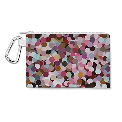 Girly Confetti Canvas Zip Pouch - 3XL Canvas Pouch 14x11 inc