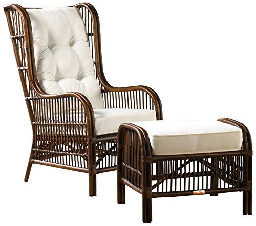 - Panama Jack Sunrooms 2 PCPJS-2001-COT Bora Bora 2 Piece Occasional Chair with Ottoman and Cushions, Sunbrella Foster Metallic