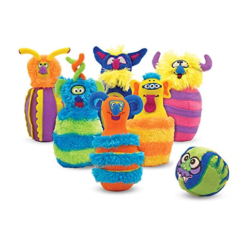 "Melissa & Doug Monster Bowling Game, Plush 6-Pin Bowling Game with Carrying Case, Weighted Bottoms, 7 Pieces, 9"" H x 8.5"" W x 7"" L"