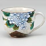 KUTANI YAKI(ware) Coffee Mug Hydrangea
