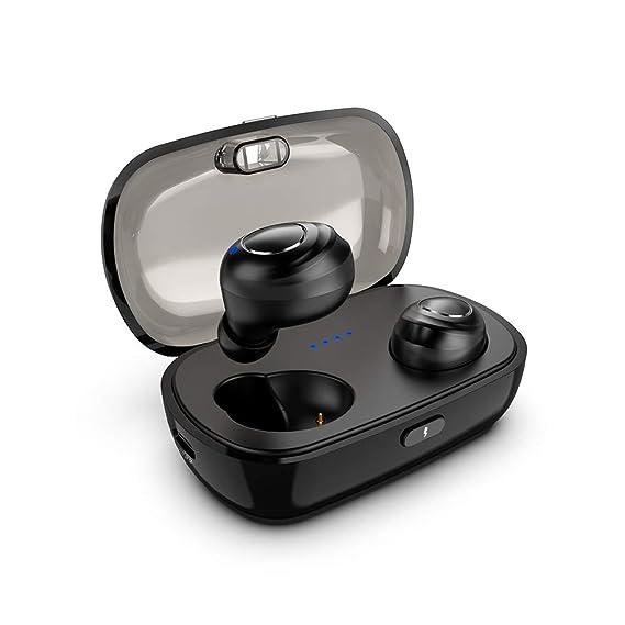 Bluetooth 5.0 Wireless Earbuds, True Wireless Stereo Bluetooth Headphones Tws Noise Canceling Hands Free In Ear Ipx5 Waterproof Sports Headset With Charging Case/Built In Mic by Minluk