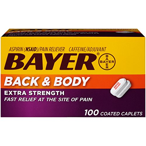 - Bayer Extra Strength Caplets, Back and Body 500 mg, 100 count