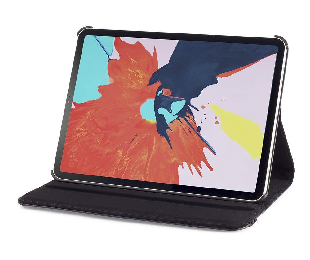 Devicewear 360度回転スマートケース Apple Pencil充電対応 スリムフィット レザースタンドケース キーボードタイピングポジションカバー付き iPad Pro 11インチ 2018年モデルに対応 ブラック   B07LCVCB9Y