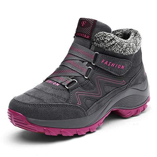 Damen Winterschuhe Wanderstiefel Outdoor Schneestiefel Boots Ulogu Winter Grey Gefüttert Warm FwUP5Eq