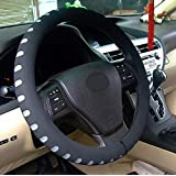 "Automotive Steering Wheel Cover - TKOOFN Soft & Breathable EVA Foam Cover Fit for Car Steering Wheel with 38cm/15"" Diameter (Gray)"