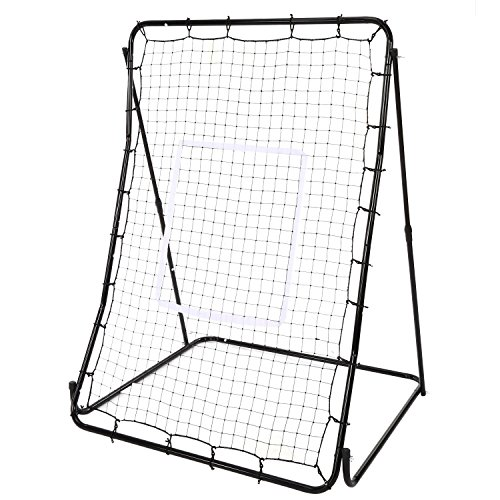 Utheing Adjustable Baseball Softball Rebounder Multi-Sport Net, Pitch Back Champion Training Screen Multi-Functional ,44 x 64inch