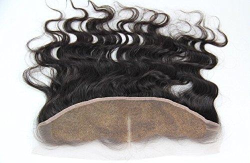 "DaJun Hair 6A Mid-Part Lace Frontal Closure 13""*2"" Mongolian Human Virgin Hair Body Wave Natural Colour (trademark:DaJun)"