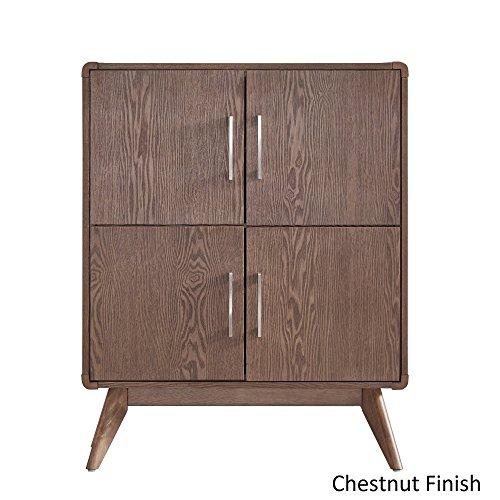 iNSPIRE Q Penelope Danish Modern Side Cst Cabinet Modern Chestnut Finish