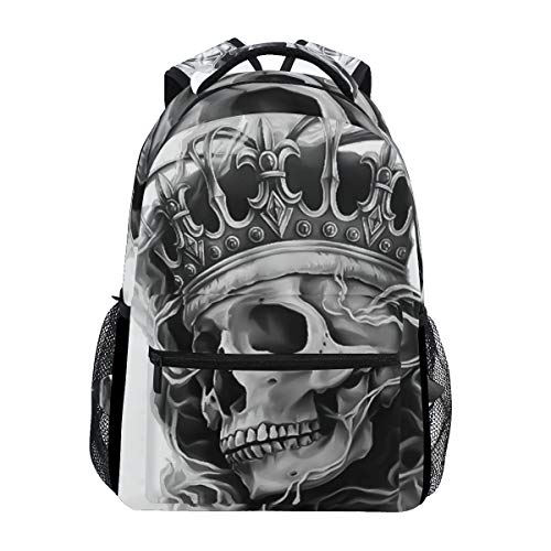 CUTEXL Canvas Backpack Abstract Mexican Skull Ghost Business Book Bag Rucksack Daypack Outdoor School Camping Hiking Travel