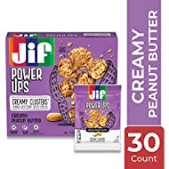 Jif Power Ups Creamy Peanut Butter Creamy Clusters Granola Cluster Bites, 1.3 Ounce Pouches (Pack of 30)
