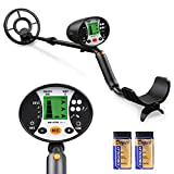 Meterk Underground Metal Detector, High Sensitivity Handheld Metal Detector for Yard, Gold Digger Treasure Hunter Metal Finder Treasures Seeking Tool with Headphone