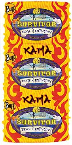 8f6f3be0 BUFF CBS Survivor BUFF Headwear-Season 38-Edge of Extinction Kama  Tribe-Yellow
