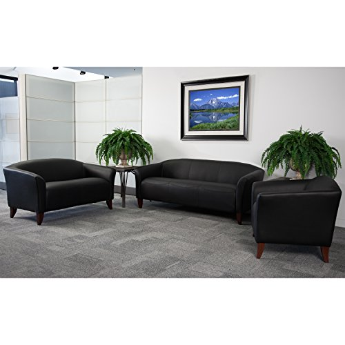 Flash Furniture HERCULES Imperial Series Reception Set in Black from Flash Furniture