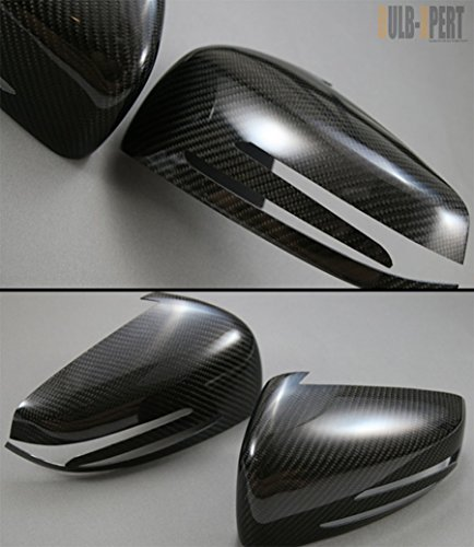 Carbon Fiber Mirror Covers - Cuztom Tuning for 2010-2014 Mercedes W204 C63 C250 C350 W212 E300 E350 W117 CLA 43 AMG Carbon Fiber Side View Mirror Cover CAPS