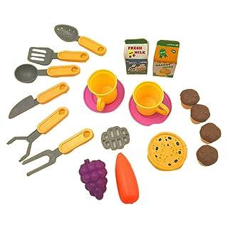 Bambini Giocattoli educativi per Bambini Articoli per la Spesa Carrello Carrello Utensili da Cucina (15 Pezzi)
