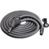 NuTone CH515 Current-Carrying Lightweight Crush-Proof 30-Foot Central Vacuum Hose with Comfort Grip Handle and Fingertip On/Off Control