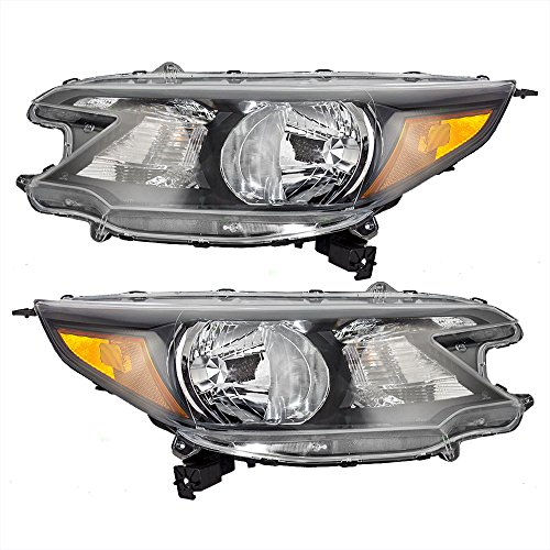 Pair Set Halogen Combination Headlights Headlamps Replacement for Honda CR-V 33150-T0A-A01 33100-T0A-A01