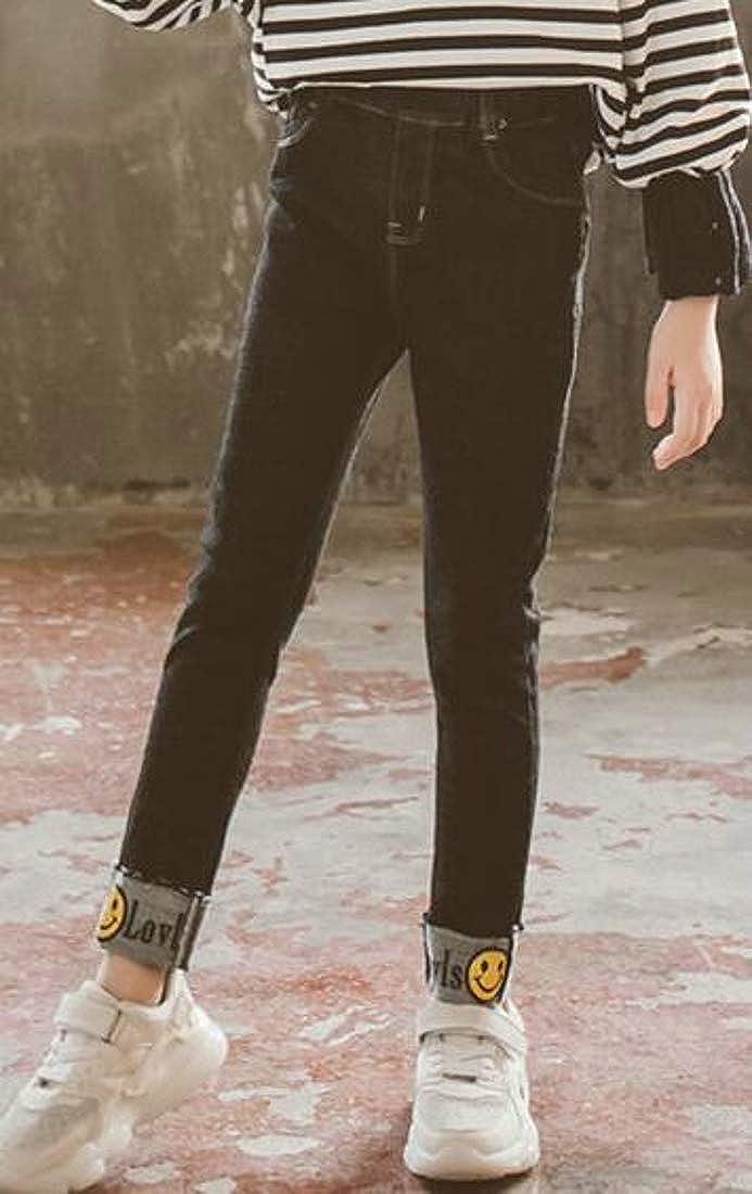 Sweatwater Big Girls Legging Skinny Jeans Denim Winter Fleece Pants