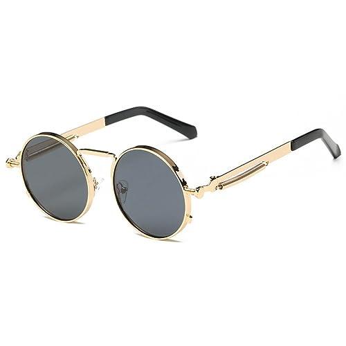 Hibote Hombre Mujer Gafas de sol With Gafas Caso UV 400 Proteccion, Negro Marco/Gris, XX-Large