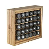 AllSpice Wooden Spice Rack, Includes 30 4oz Jars-Bamboo