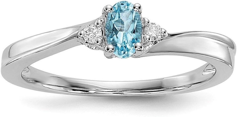 Blue Topaz Sterling Silver Ring Gemstone Beaded Band Rings 925 Stack Birthstone