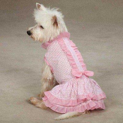 Charlotte Ruffle Dress Size: Small, My Pet Supplies