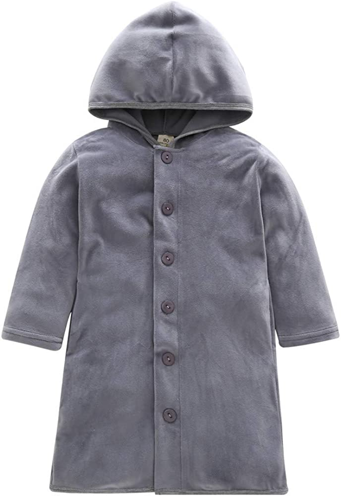 Winter Boys Girls Kids Outwear Cloak Button Jacket Pollyhb Baby Thick Warm Coat