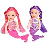 Kidsco Mermaid Doll – 5 inches Cool and Fun Little Mermaid Dolls, Pack of 2, – Great Party Favor, Party Bag Stuffer, Giveaways, Novelty Toys