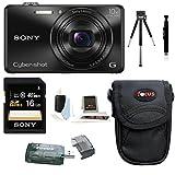 Sony Cyber-Shot DSC-WX220 18.2 MP Digital Camera Bundles (Base Bundle)