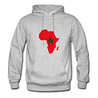 African_soccer_flag_of_morocco Bradfohod Hoodies Off-the-record Women Speacial Grey