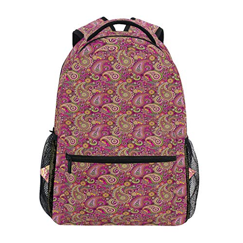 MOBEITI Asian Bohemian Middle Eastern Flourish Violet Blossom Lotus Spiritual Persian Lightweight School Backpack Students College Bag Travel Hiking Camping - Lotus Light Persian