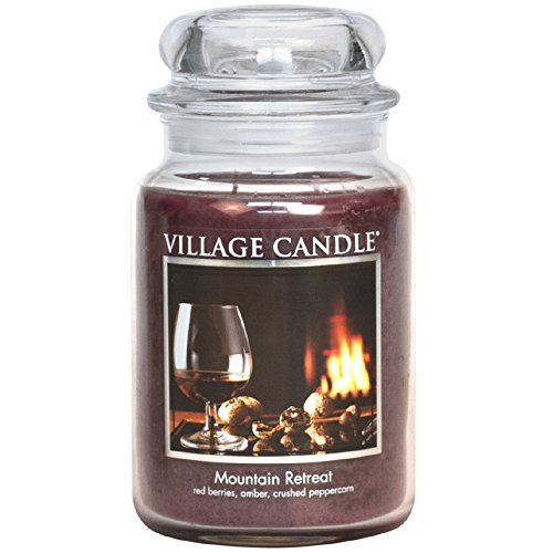 (Village Candle Mountain Retreat 26 oz Glass Jar Scented Candle, Large)