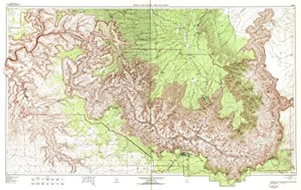 Amazon Com 1962 1981 Map Grand Canyon National Park And