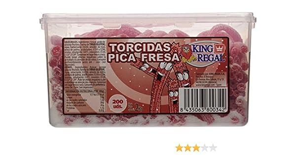 King Regal Torcida Pica Fresa - estuche 200 unidades: Amazon.es: Alimentación y bebidas