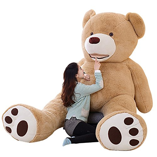 XGB 63 Inches Teddy Bear Cover Gift Huge Plush Bear Life Size Giant Bear Animal Toy (16063in)