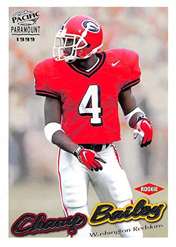 - Champ Bailey football card (Georgia Bulldogs) 1999 Pacific Paramount Rookie #245