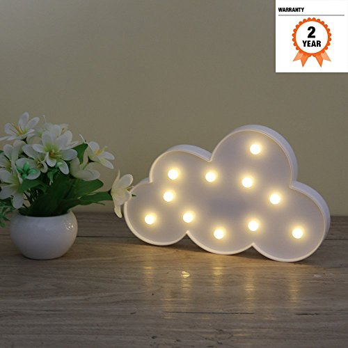 Lighted Cloud Sign   Led Marquee Cloud Baby Light Nursery Lamp   Home Decor Accents   Cloud Night Lights  White Cloud