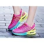 Homme Femme Chaussures de Running Sport Basket Respirante Travail Trail Sneakers Noir Rose Gris 35-46 7