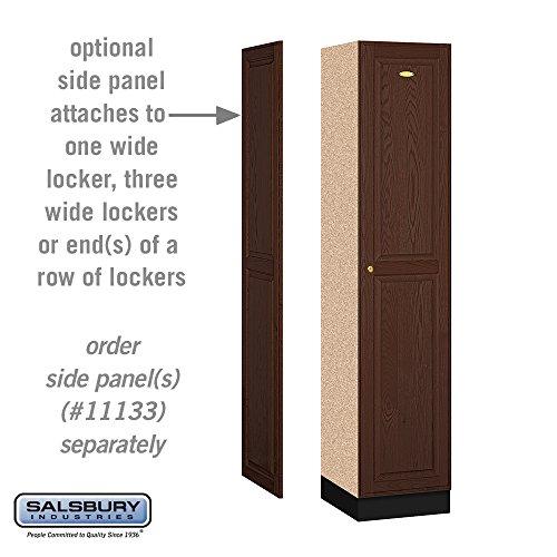Single Tier solid Oak Executive Locker w 1 Wide in Dark Oak