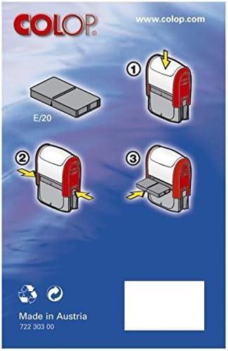 data ufficio fermo P20/personalizzato Colop Mini Stamper Blue Ink Pagato timbro autoinchiostrante