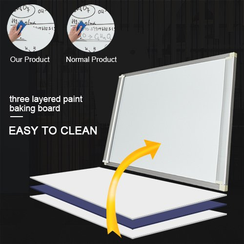 Mobile Dry Erase Board – 40x28 inches Magnetic Whiteboard by viatech (Image #1)'