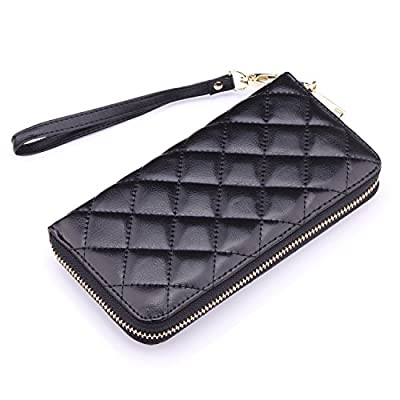 Ladies Leather Wristlet Wallet Clutch, Cell Phone Wallet Purse Iphone 7 Plus 6S Galaxy S7 Note 5