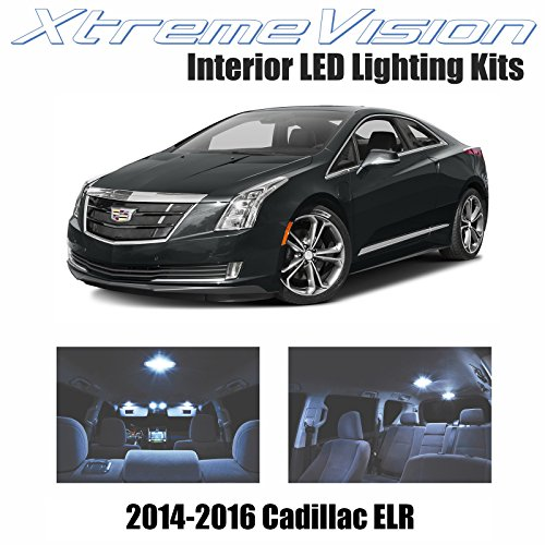 XtremeVision Interior LED for Cadillac ELR 2014-2016 (8 Pieces) Cool White Interior LED Kit + Installation Tool
