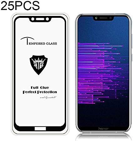 Tempered Glass Film Black Color : Black Wangl Mobile Phone Tempered Glass Film 25 PCS Full Screen Full Glue Anti-Fingerprint Tempered Glass Film for Huawei Honor Honor Play