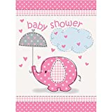 Unique Party 41674 - Pink Elephant Baby Shower Invitations, Pack of 8