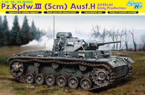 Dragon 500776641 - 1:35 Sonderkraftfahrzeug 141 Panzerkampfwagen.III AusfürH, 5 cm