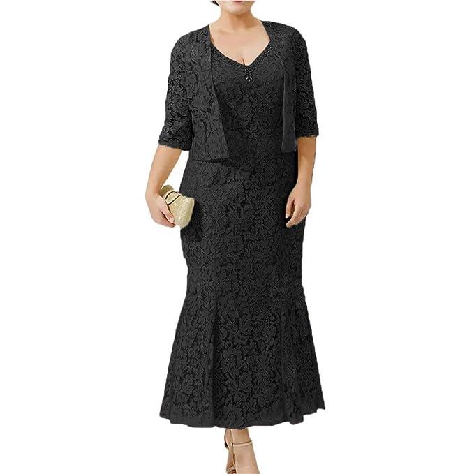 Amazon.com: CLOTHSURE Vestidos de encaje para mujer, cuello ...