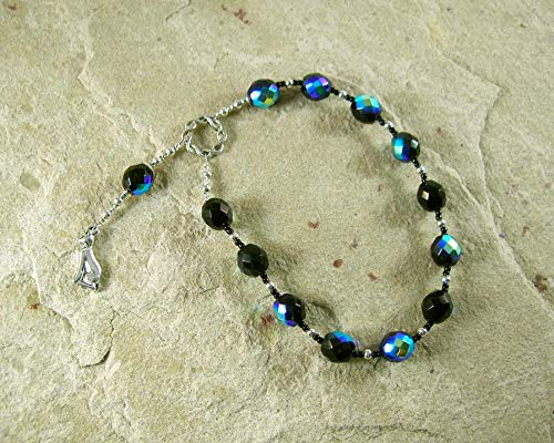 Bast (Bastet) Pocket Prayer Beads: Egyptian Goddess of Joy, Love, Music and Dance