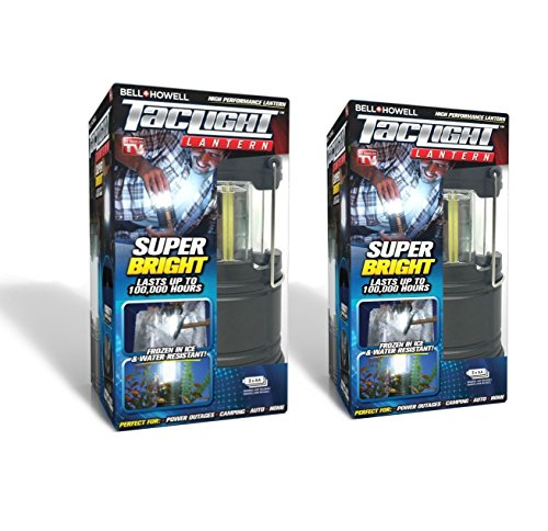 Bell Howell Taclight Lantern COB LED, Collapsible As Seen On TV Pack of 2