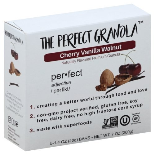 - The Perfect Granola - Gluten Dairy Free Healthy Natural Premium Breakfast Granola Bars 5 Pack (Cherry Vanilla Walnut)